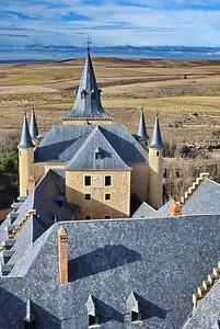 """Segovia's """"Alcazár"""" from the tower."""